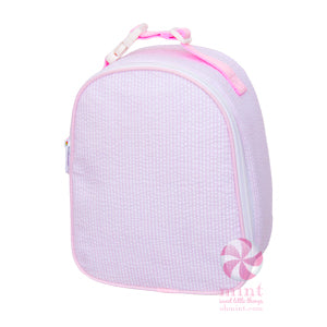 Light Pink Seersucker Gumdrop Lunchbox