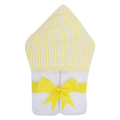 Yellow Check Seersucker Everykid Towel