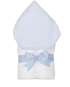 Blue Check Seersucker Everykid Towel