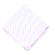 Load image into Gallery viewer, Pink Gingham Dots Blanket