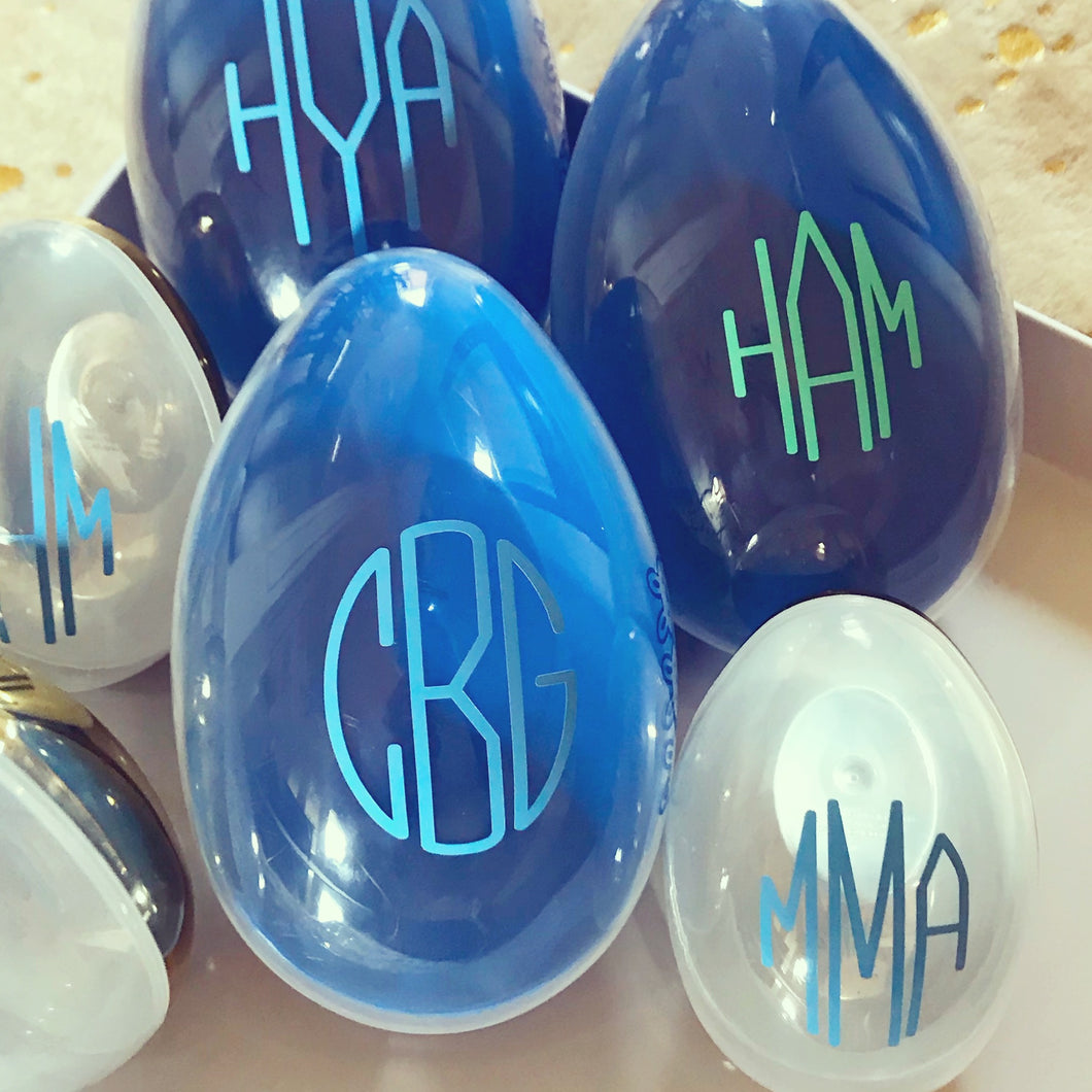 Personalized Large Blue Easter Egg