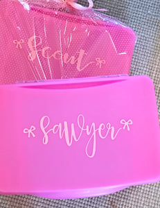 Personalized Pink Folding Lap Desk