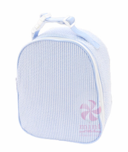 Light Blue Seersucker Gumdrop Lunchbox