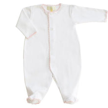 Load image into Gallery viewer, Pixie Lily Pink Jersey Footy Romper