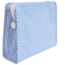 Load image into Gallery viewer, Light Blue Medium Gingham Roadie Travel Case