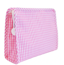 Load image into Gallery viewer, Pink Large Gingham Roadie Travel Case