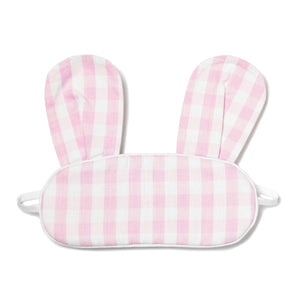 Children's Pink Gingham Bunny Eye Mask