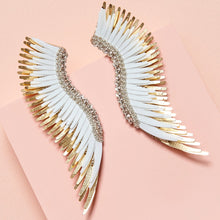 Load image into Gallery viewer, Mignonne Gavigan Madeline Earrings in White/Gold