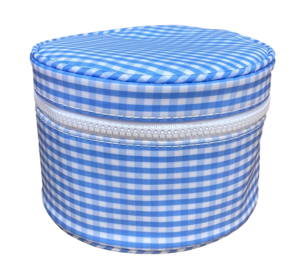 Light Blue Gingham Round Up Bag