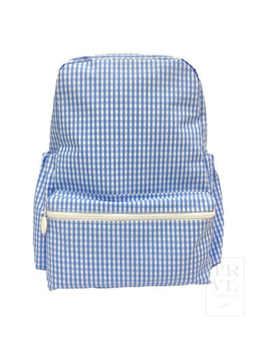 Blue Gingham Backpack