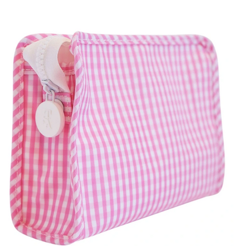 Pink Small Gingham Roadie Travel Case