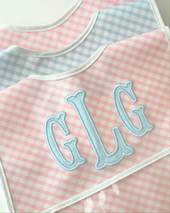 Pink Gingham Laminated Bib