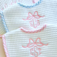 Load image into Gallery viewer, Pink Gingham Pique Medium Bib