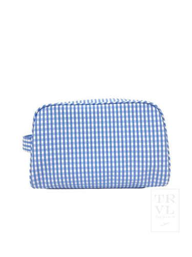 Blue Gingham Stowaway Tote