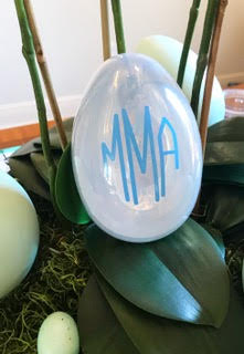 Monogrammed Golden Egg with Clear Top