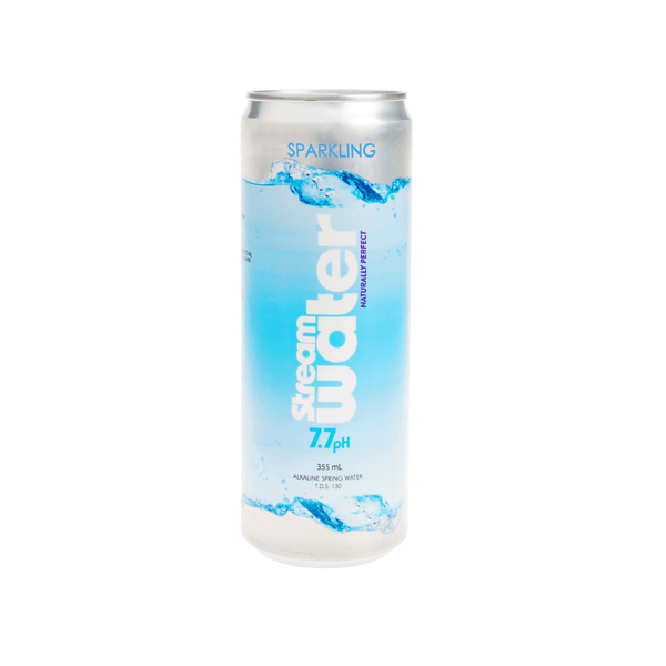 Sparkling      Stream Water      355mL Aluminum Cans   |   Case 24 - Stream Water