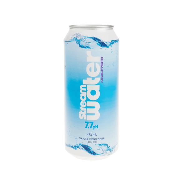 Stream alkaline water in 473 mL Aluminum Can | Case 24 - Stream Water