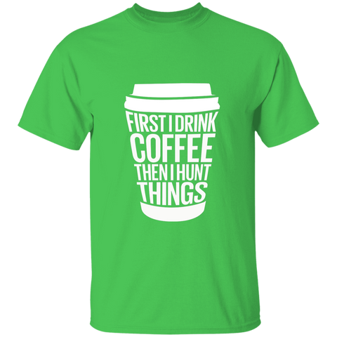 First I Drink Coffee T-Shirt - Women's T-Shirt | Dolls Does Collective