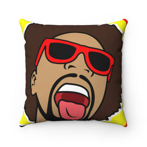 Mr. Heatcam Spun Polyester Square Pillow