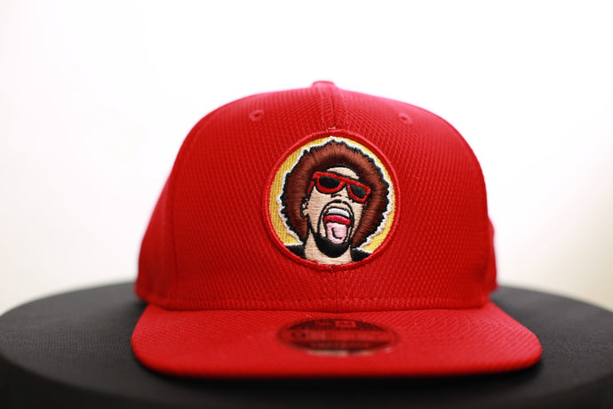 The Mr.Heatcam Red Mesh New Era Snapback (Vintage Logo)