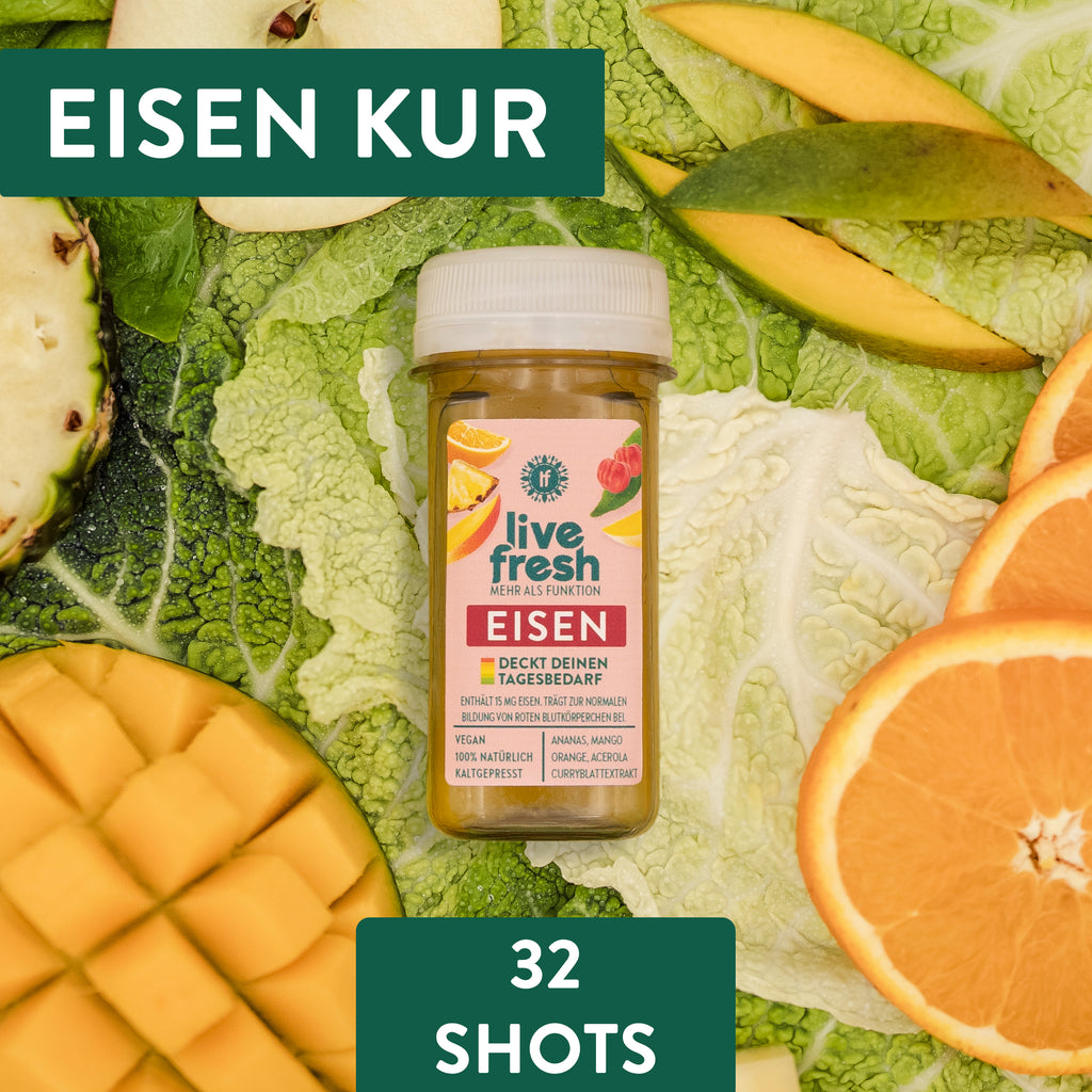 Eisen Shot Kur - Monatsration - 32x 60ml