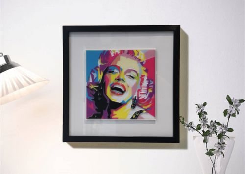 Tableau 3D relief Marylin Monroe pop