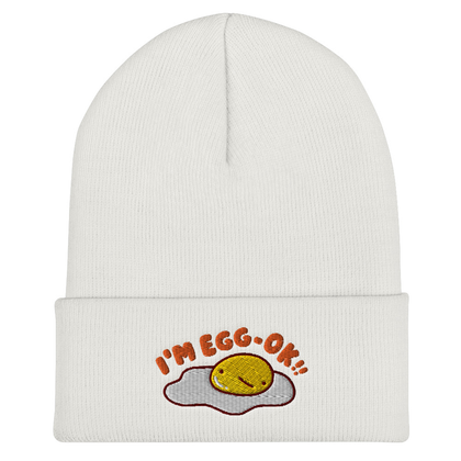 mis0happy I'm Egg-OK Beanie | CityCaps.Co