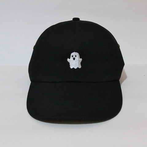Spooky | Boo Ghost | Baseball hat | Machine Embroidered | Unstructured six panel dad hat,Adjustable Brass Buckle in back | CityCaps.Co