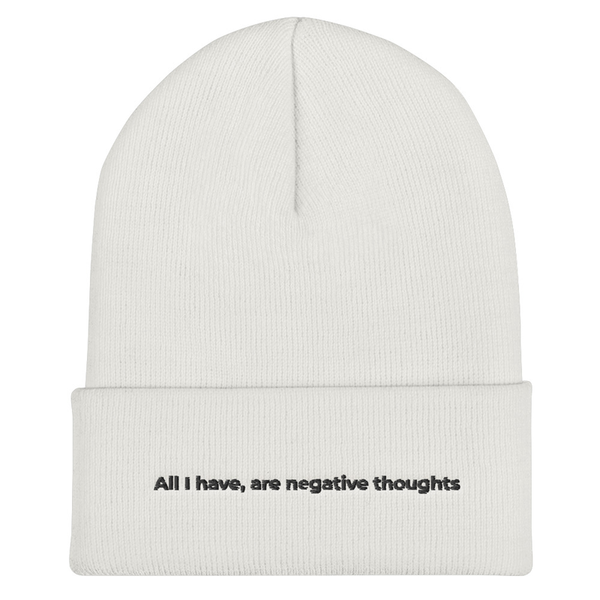 All I Have Are Negative Thoughts Joker Beanie | CityCaps.Co