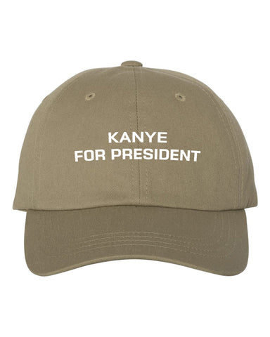 Kanye West For President Dad Hat | CityCaps.Co