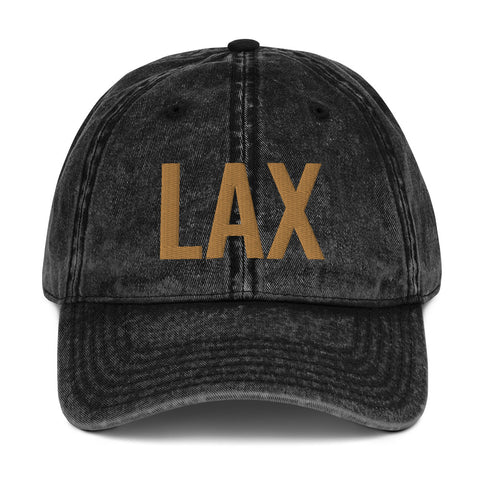LAX - Airport Codes Vintage Dad Hat | CityCaps.Co