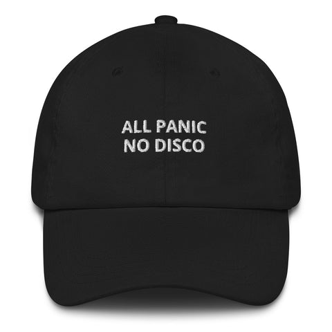 ALL PANIC NO DISCO Dad Hat | CityCaps.Co