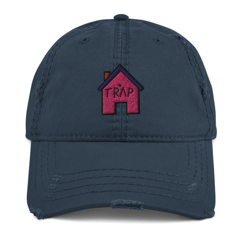 The Pink TrapHouse Distressed Dad Hat | CityCaps.Co