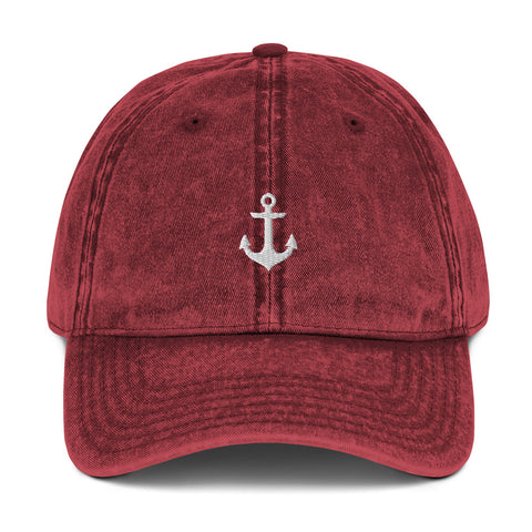 Anchor Vintage Dad Hat | CityCaps.Co