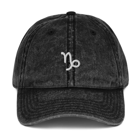 Astrology Capricorn Sign Vintage Dad Hat | CityCaps.Co