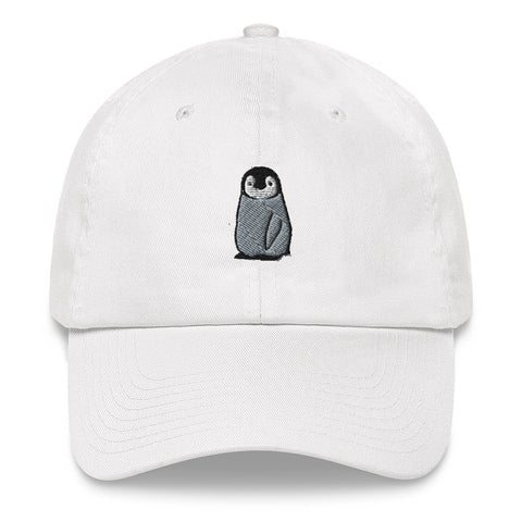 Sheba Drawing Penguin Dad Hat | CityCaps.Co