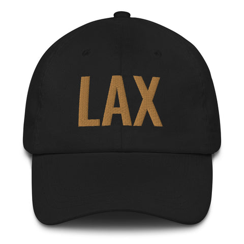 LAX - Airport Codes Dad Hat | CityCaps.Co