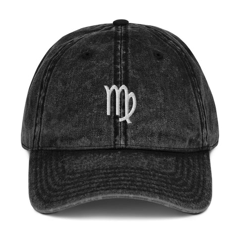 Astrology Virgo Sign Vintage Dad Hat | CityCaps.Co