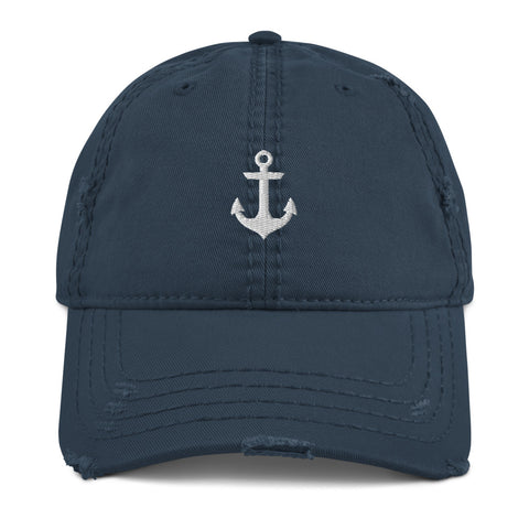 Anchor Distressed Dad Hat | CityCaps.Co