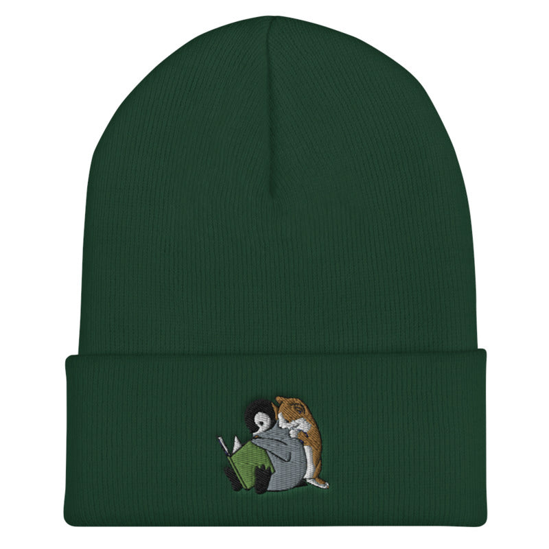 Sheba Drawing Penguin & Cat Beanie | CityCaps.Co