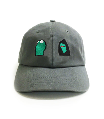 Hooded Kermit Dad Hat | CityCaps.Co