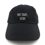 Not Today Satan Dad Hat | CityCaps.Co