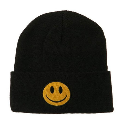 Smile Face Beanie | CityCaps.Co