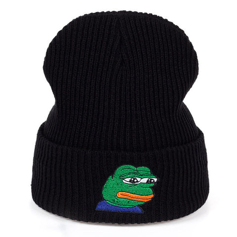 Sad Kermit the Frog Beanie | CityCaps.Co