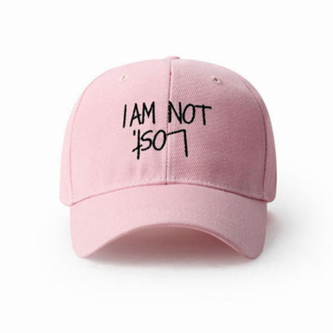 I Am Not Lost Dad Hat | CityCaps.Co