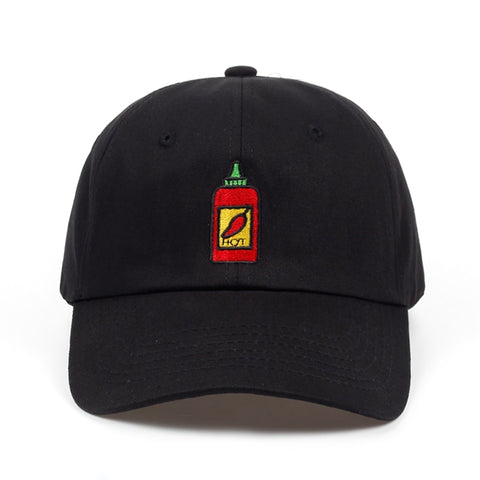 Hot Sauce Bottle Dad Hat | CityCaps.Co