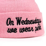 On Wednesdays We Wear Pink Beanie | CityCaps.Co