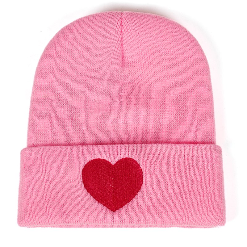 Red Heart Beanie | CityCaps.Co
