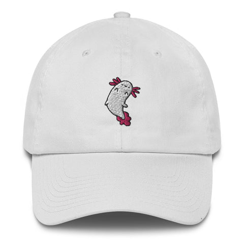 Tea Bag Cartoon Axolotl Dad Hat | CityCaps.Co