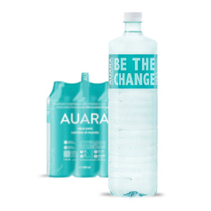 AUARA pack 6 botellas 100% material reciclado r-PET de 1.501 ml
